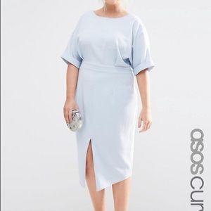ASOS Curve Light Blue Wiggle Dress